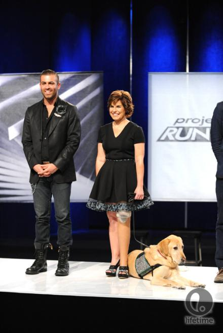 Project Runway All-Star Joshua Ryan winning the challenge on Episode 10, 11 Feb. 2013. Photo from lifetime.com/projectrunway.